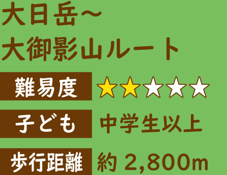 大日岳→大御影山ルート